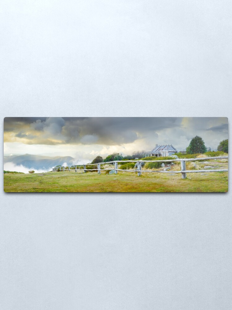 Alternate view of Stormy Evening at Craigs Hut, Mt Stirling, Victoria, Australia Metal Print