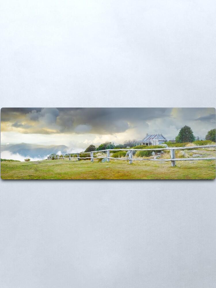 Alternate view of Stormy Evening at Craigs Hut, Mt Stirling, Victoria, Australia Metal Print