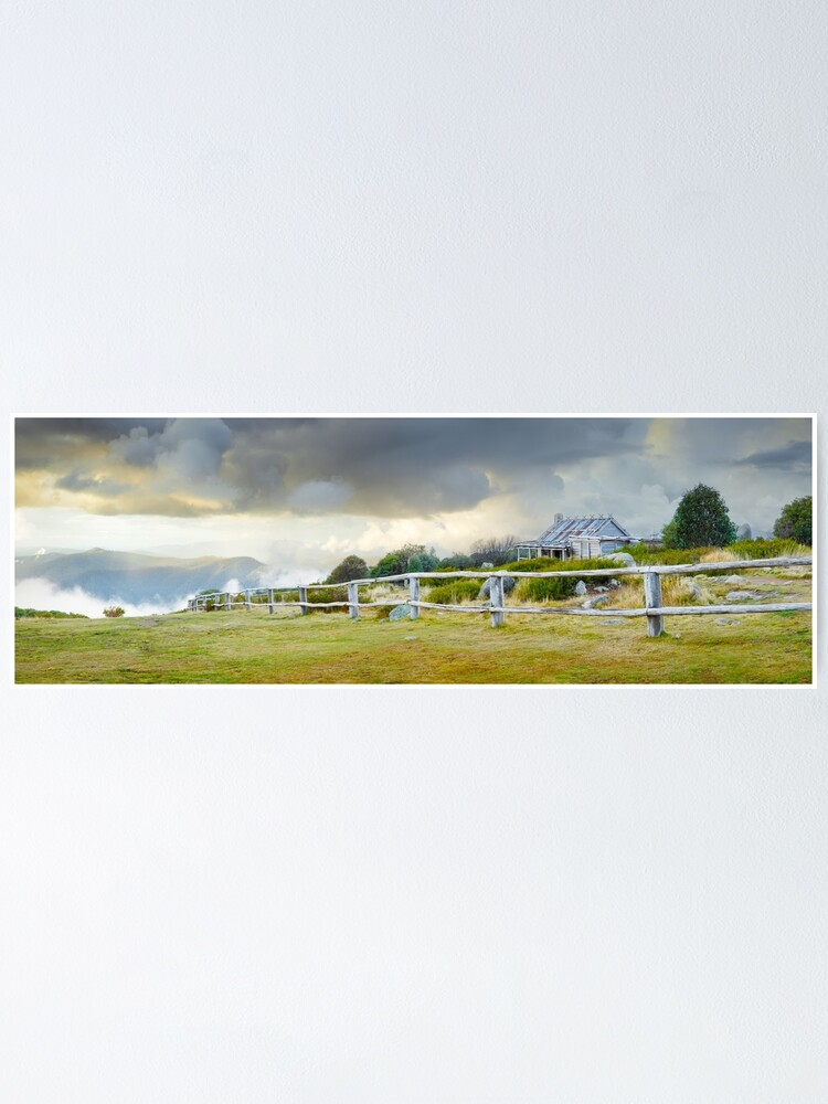 Alternate view of Stormy Evening at Craigs Hut, Mt Stirling, Victoria, Australia Poster