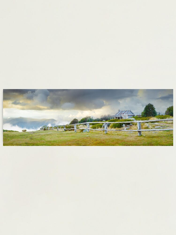 Alternate view of Stormy Evening at Craigs Hut, Mt Stirling, Victoria, Australia Photographic Print