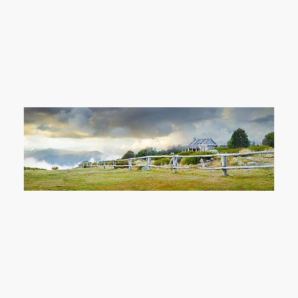 Stormy Evening at Craigs Hut, Mt Stirling, Victoria, Australia Photographic Print