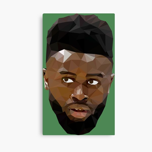 Jaylen Brown Low Poly Canvas Print