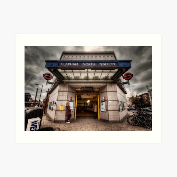 Clapham North Tube Station Art Print