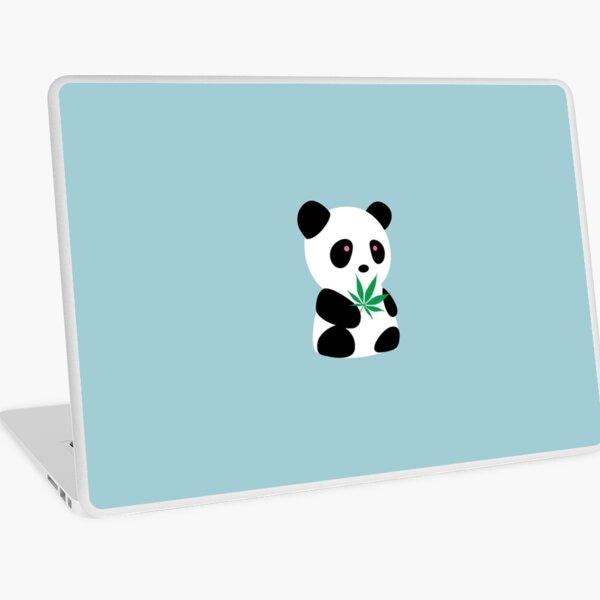 "Panda with ""recreational bamboo"" Laptop Skin"