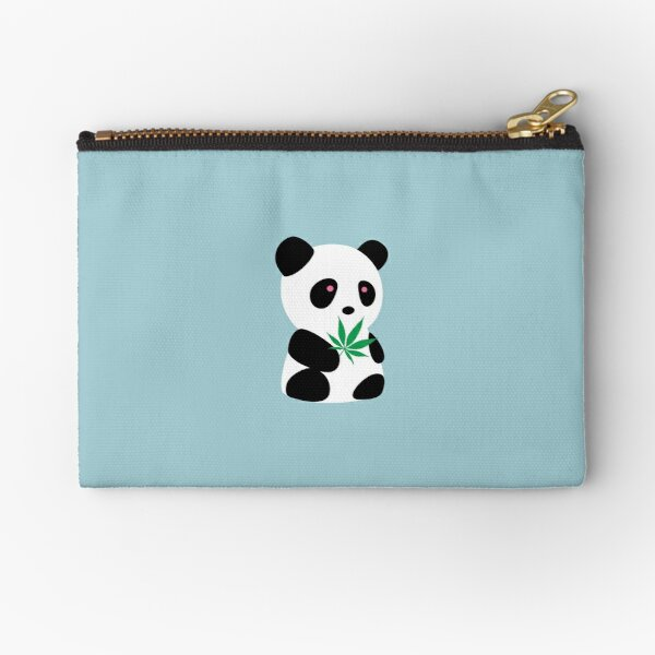 "Panda with ""recreational bamboo"" Zipper Pouch"