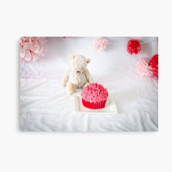 Beary Pink Canvas Print