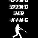 Ding Ding HR King - Baseball Youth Kids Funny Sports T Shirt Gift  von greatshirts