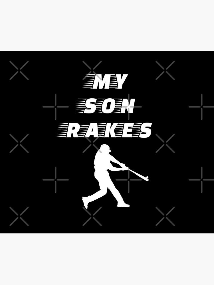 My Son Rakes - Baseball Youth Kids Funny Sports T Shirt Gift  von greatshirts
