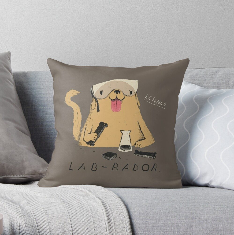 lab-rador Throw Pillow