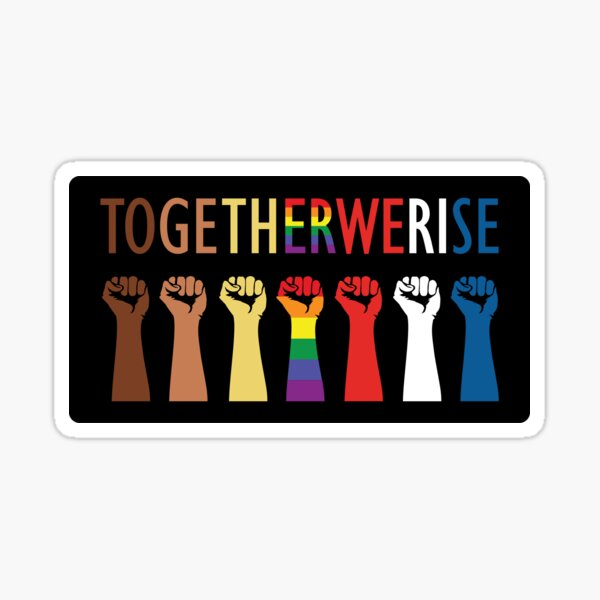 Together We Rise Unity Design Sticker