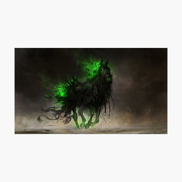 Fear the Black Horse Photographic Print