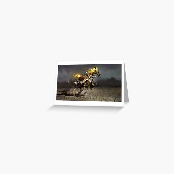 Glory, the White Horse Greeting Card