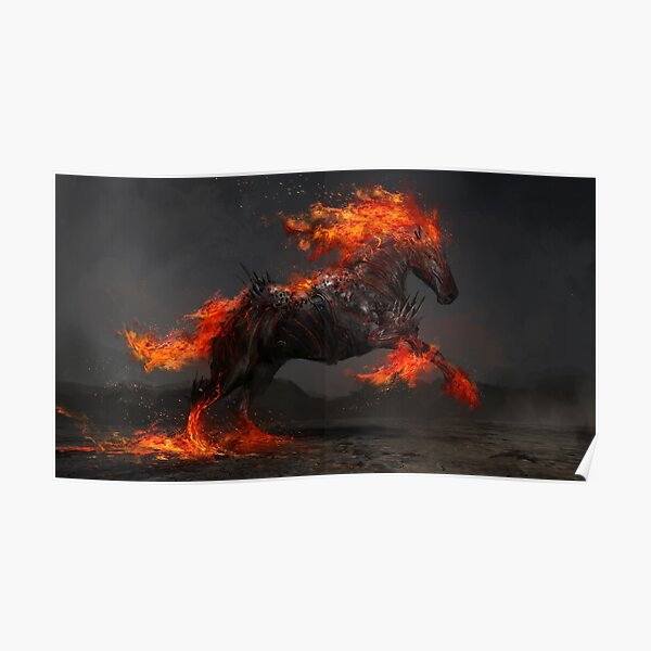 Ruin the Fiery Horse Poster