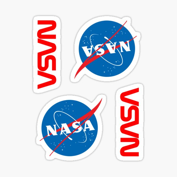 NASA × 4 Sticker