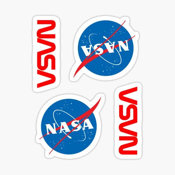 NASA × 4 Pegatina