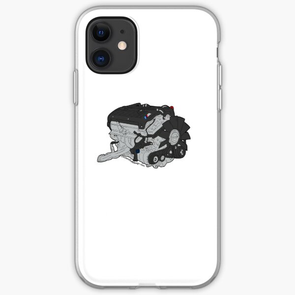 E46 M3 S54 Engine iPhone Soft Case