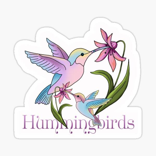 Hummingbird Flutterings Sticker