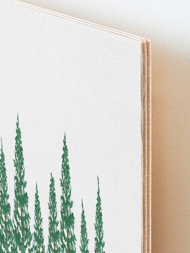 Alternate view of Into the Pines Mounted Print