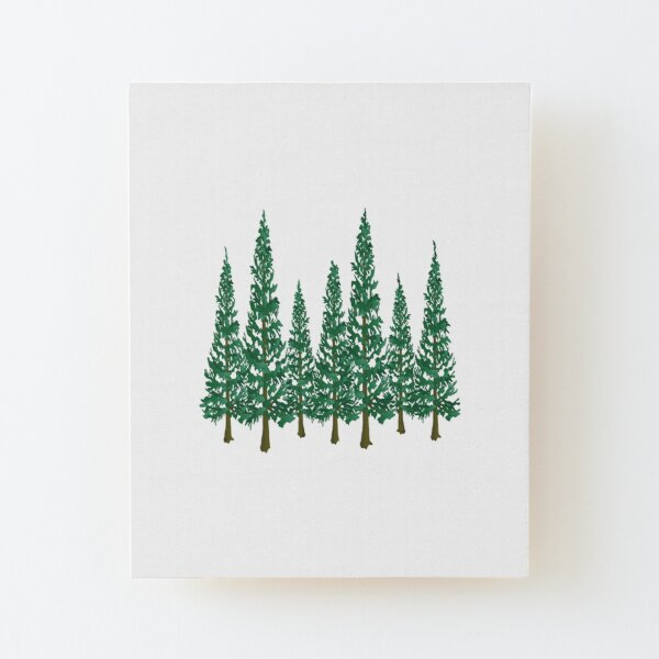 Into the Pines Wood Mounted Print