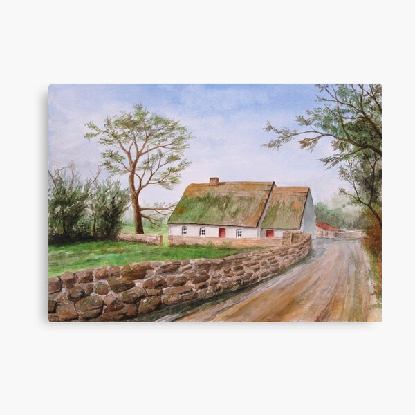 Traditional Irish Thatched Cottage Canvas Print