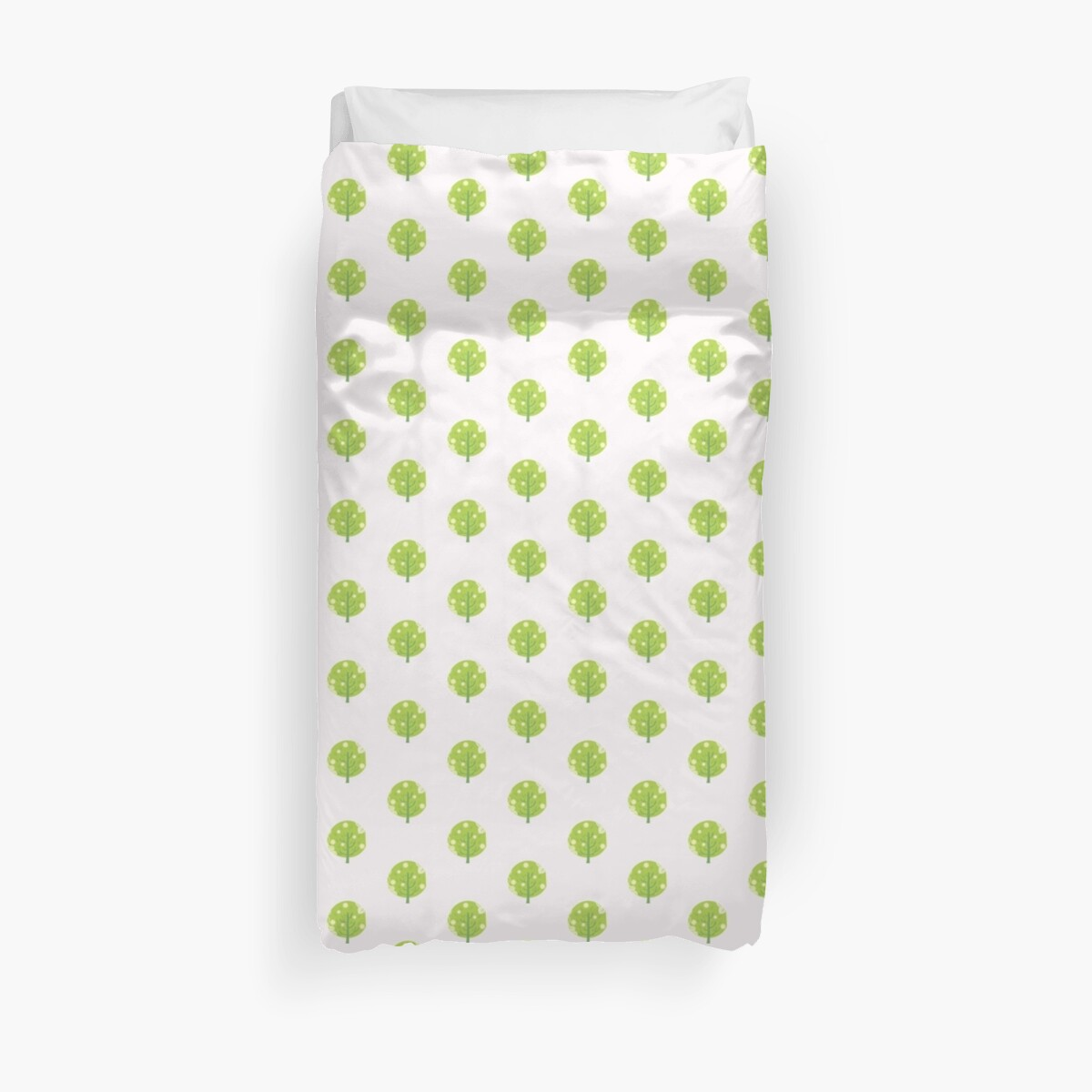 Cute tree motif Duvet Cover by Voila and Black Ribbon
