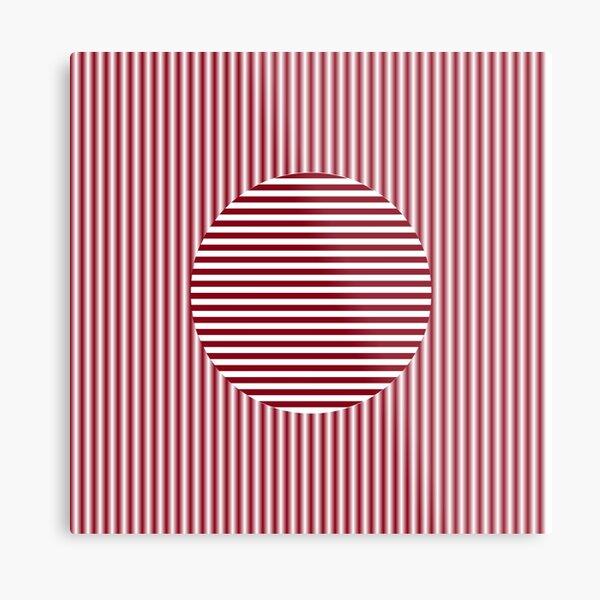 OpArt, Visual Illusion, #VisualArt, #OpticalArt, #OpticalIllusion, #OpticalIllusionArt, OpticalArtIllusion, PsyhodelicArt Metal Print