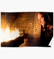 Fireside Portrait B Poster