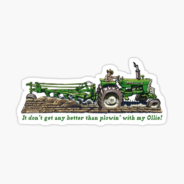 Plowing with my Oliver Sticker