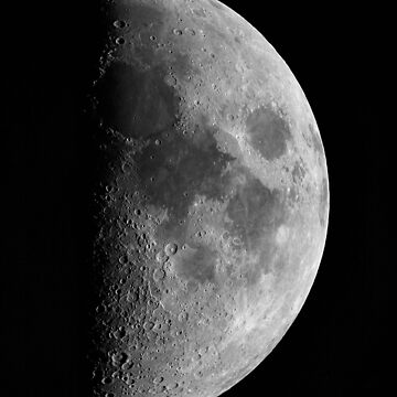 First quarter Moon by DuncanW