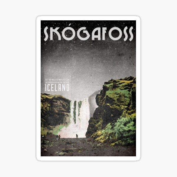 Iceland's Skogafoss waterfall Sticker