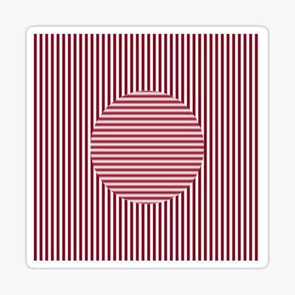 OpArt, Visual #Illusion, #VisualArt, #OpticalArt, #OpticalIllusion, OpticalIllusionArt, OpticalArtIllusion, PsyhodelicArt Sticker