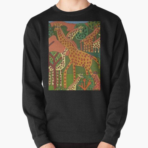 Giraffes Zion Levy Stewart Art Pullover Sweatshirt