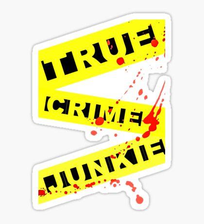 Crime Junkie Police Tape Sticker