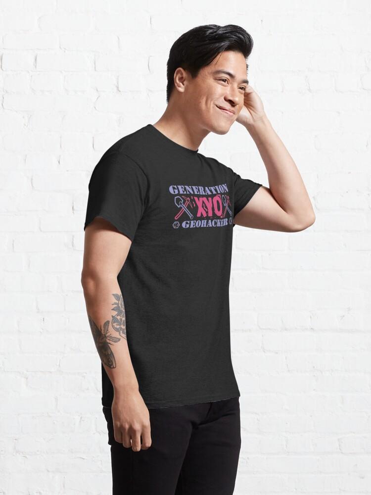 Alternate view of Generation XYO Geohacker Design Classic T-Shirt