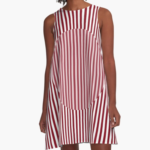 OpArt, #Visual #Illusion, #VisualArt, #OpticalArt, OpticalIllusion, OpticalIllusionArt, OpticalArtIllusion, PsyhodelicArt A-Line Dress
