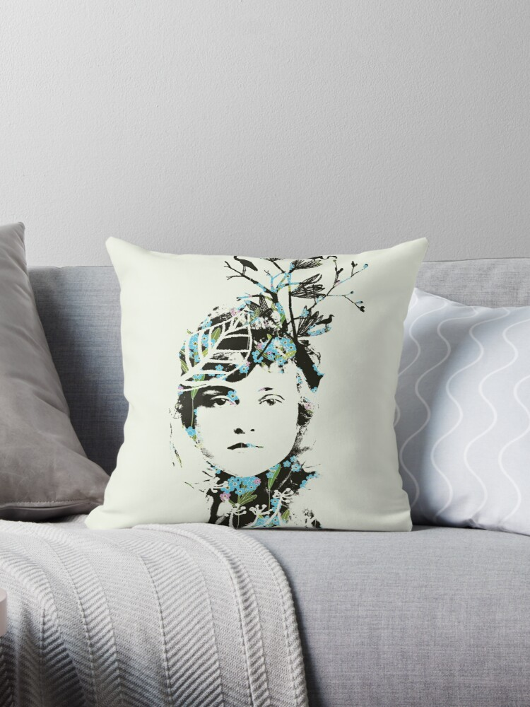Throw Pillow by Voila and Black Ribbon