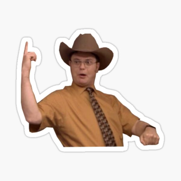 Cowboy Safety Dwight Schrute Sticker