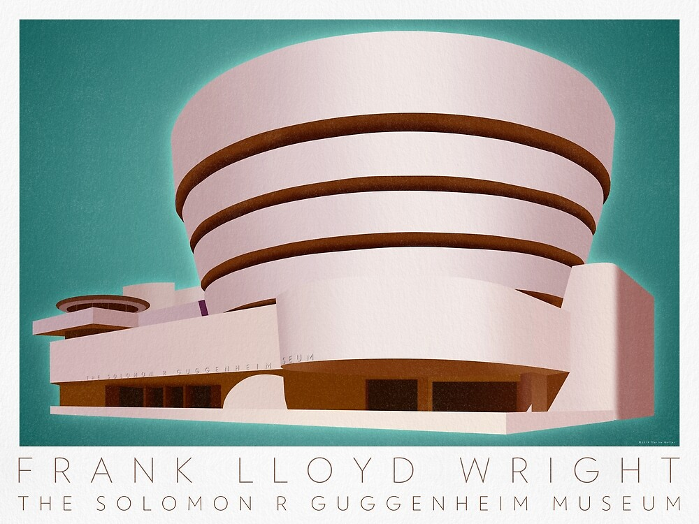 Guggenheim Museum Poster by BLTV