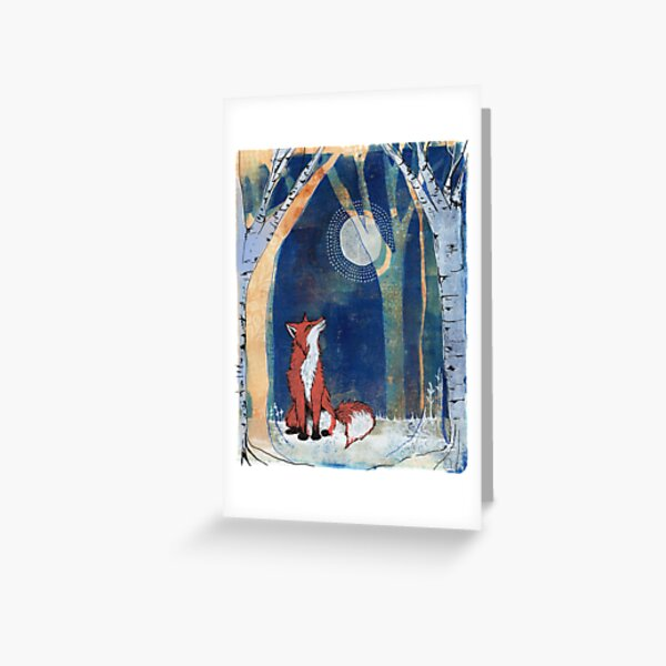 The Fox and the Moon Greeting Card