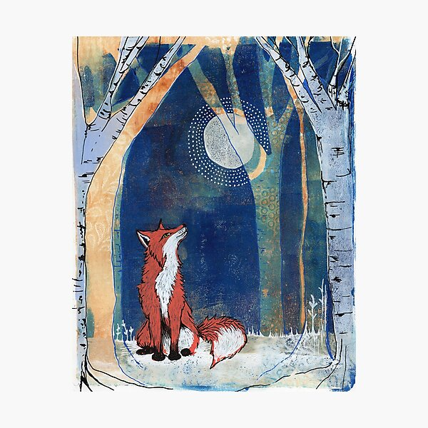 The Fox and the Moon Photographic Print