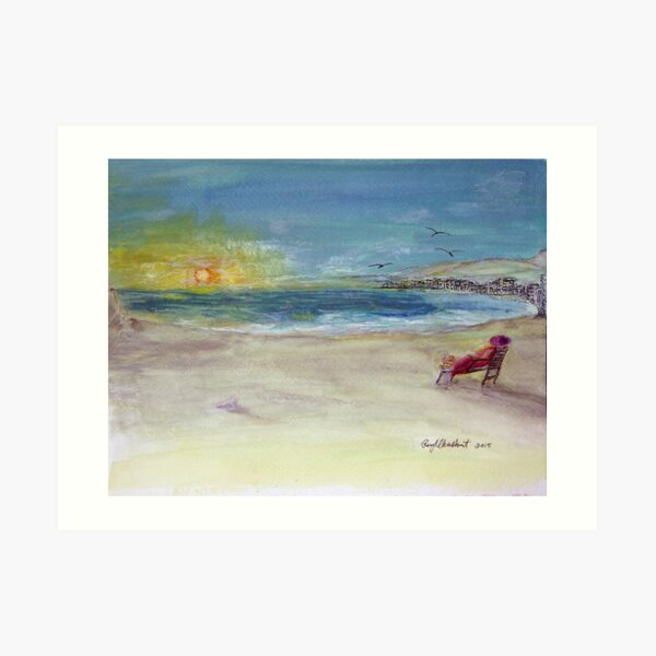 Lady Ruth Marie Sunrise at the Beach Art Print