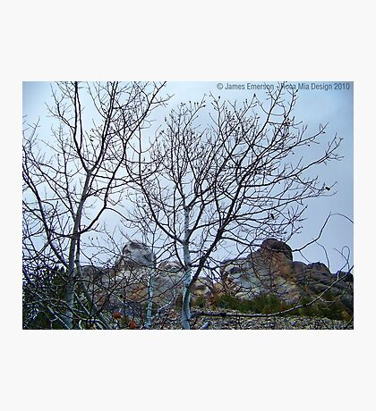 A Different View of Mt. Rushmore Photographic Print