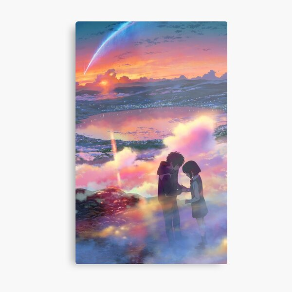 Your Name Poster - kimi no na wa Anime Poster  Metal Print