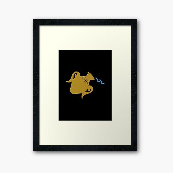 Aquarius - Zodiac Symbols Framed Art Print