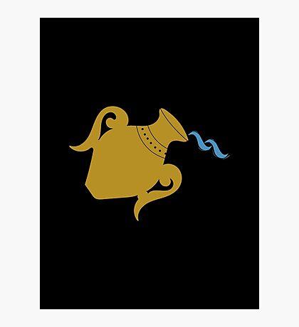 Aquarius - Zodiac Symbols Photographic Print