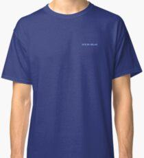 Solid Plain Blue T-Shirt - Mens and Womens Clothing Classic T-Shirt