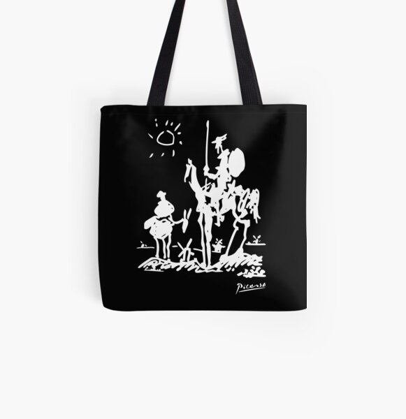 Pablo Picasso Don Quixote 1955 Artwork Shirt, Reproduction All Over Print Tote Bag