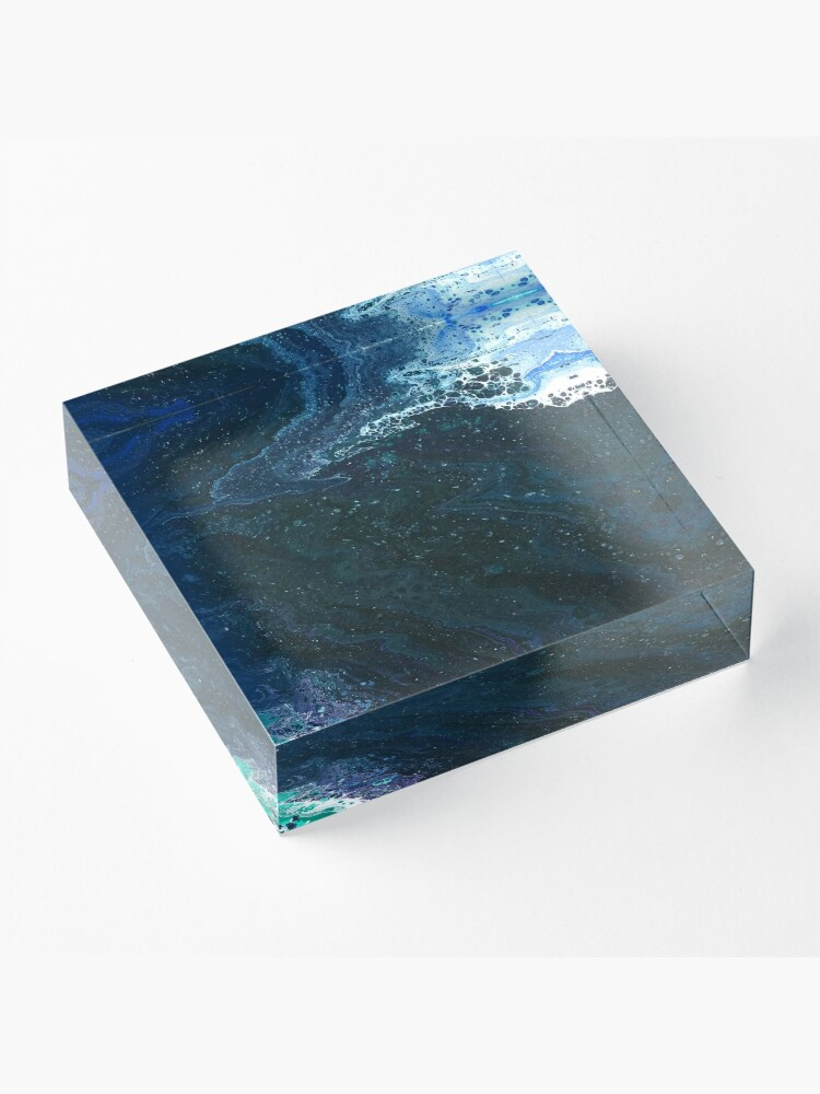 Alternate view of Estuary: river art Acrylic Block