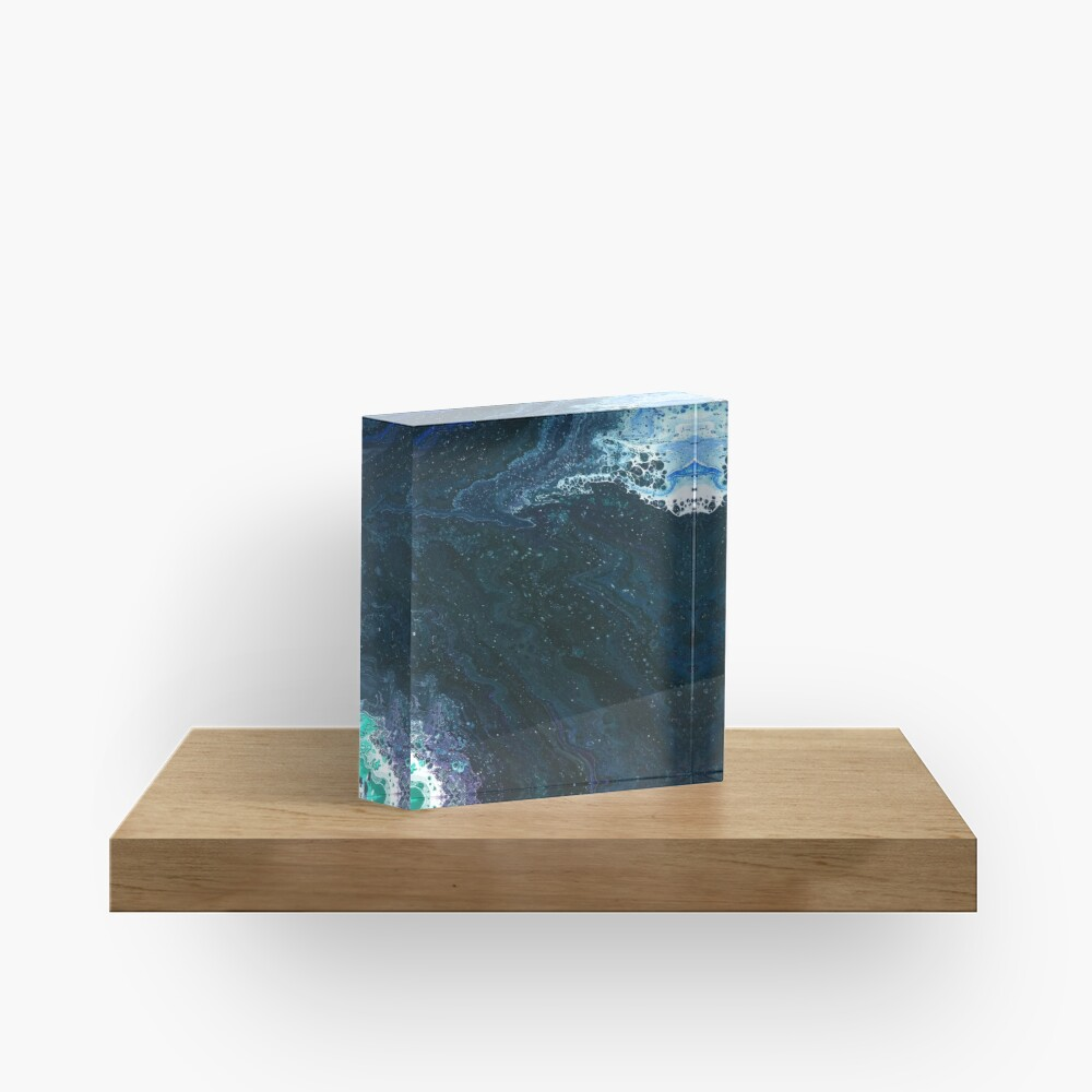 Estuary: river art Acrylic Block