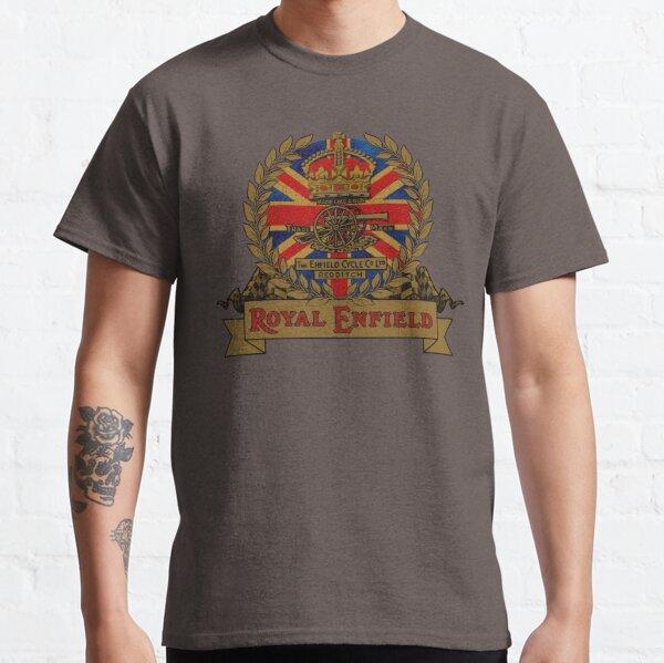 Conception de moto Classic Royal Enfield Crest de MotorManiac T-shirt classique